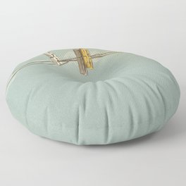 Vintage Clothespin Floor Pillow