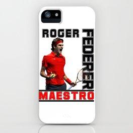 Roger Federer Maestro iPhone Case