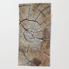 Tree rings of time Beach Towel