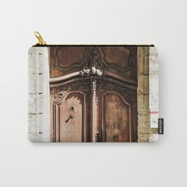 Doorway | Hotel de La Grange Nimes France Vintage Rustic Old World Desaturated Architecture Carry-All Pouch