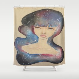 Space Lady Shower Curtain