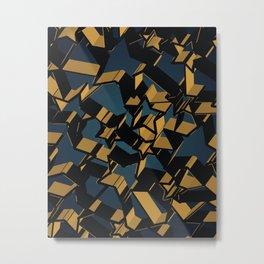 3D Mosaic BG Metal Print