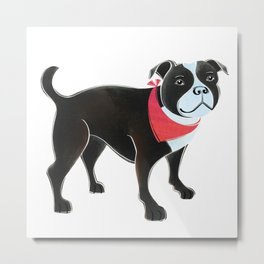 Staffordshire Terrier Metal Print
