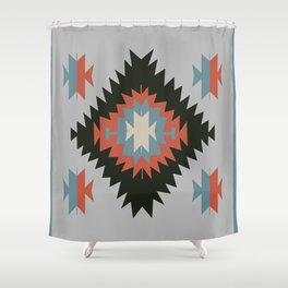 Southwestern Santa Fe Tribal Indian Pattern Shower Curtain