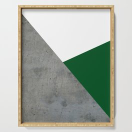Concrete Festive Green White Serving Tray