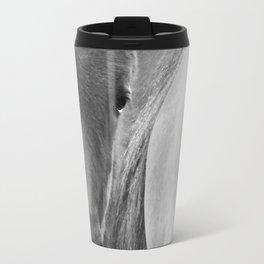 Original horses photo. Black & White, fine art, animal photography, landscape, b&w Travel Mug