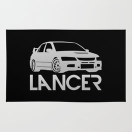 Mitsubishi Lancer Evo - silver - Rug