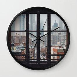 New York City Window Wall Clock