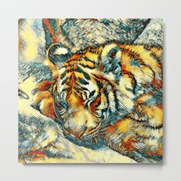 AnimalArt_Tiger_20170606_by_JAMColorsSpecial Metal Print
