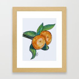 Two Oranges Framed Art Print