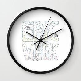 Epic Week Wall Clock