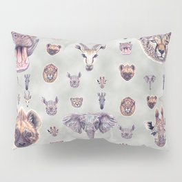 African Mammals Poster and Pattern Pillow Sham
