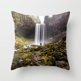 Tamanawas Falls Throw Pillow