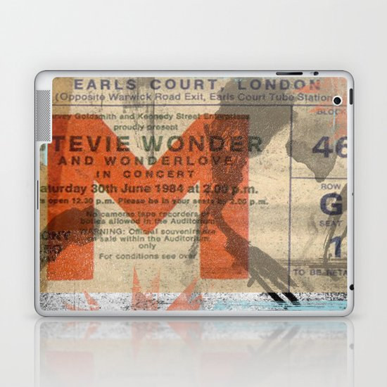 stevie wonder ticket stub Laptop & iPad Skin