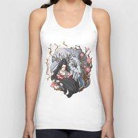 kitsune Tank Tops featuring Kitsune by Julia Nguyen