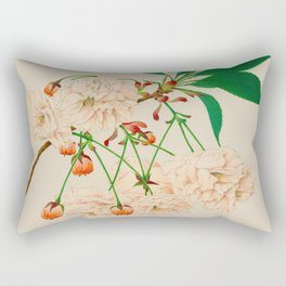 Fugen's Elephant Cherry Blossoms Rectangular Pillow