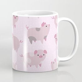 Cute Pink Piglets Pattern Coffee Mug