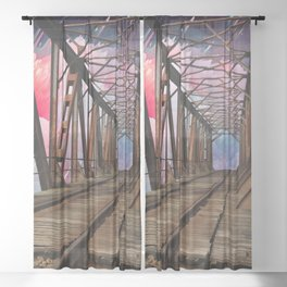 Bridge To Another World Sheer Curtain