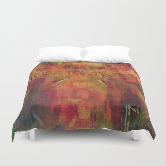 The messenger of Halloween Duvet Cover