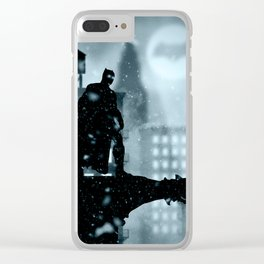 Bat man the hero Clear iPhone Case