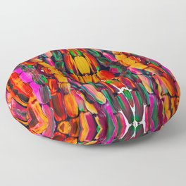 For the World Sugarcane - Alicia Jones - Pattern Floor Pillow