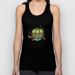 Turtle in a Circle Unisex Tank Top