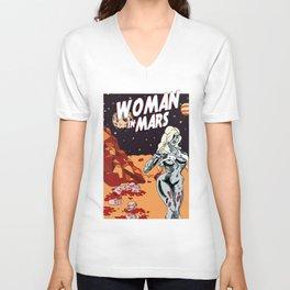 WOMAN IN MARS Unisex V-Neck