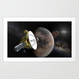 New Horizons - Pluto and Charon Art Print