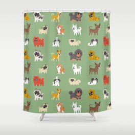 ASIAN DOGS Shower Curtain