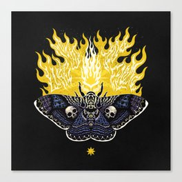 Moths to a Flame Canvas Print