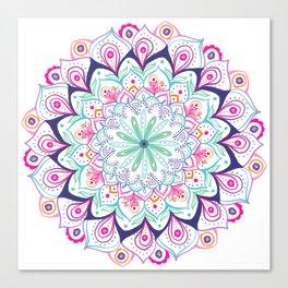 Mandala multicolor Canvas Print
