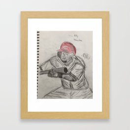 Billy Hamilton bunting Framed Art Print