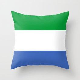 Sierra Leone country flag Throw Pillow