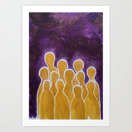 They were twelve Art Print