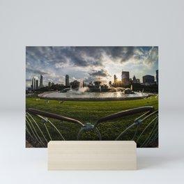 Fisheye view of Chicago's Buckingham Fountain Mini Art Print
