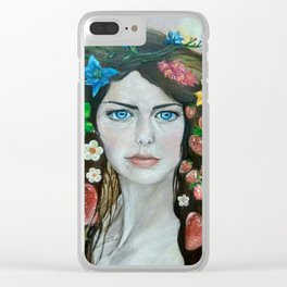 The portrait of the girl (stylized). Oil painting. Clear iPhone Case