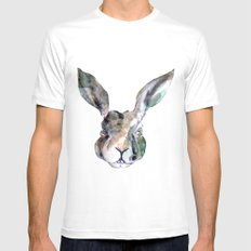 Hare Sketch #1 White MEDIUM Mens Fitted Tee
