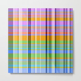 Stripes Multi Colors - Lumi Plaid Metal Print