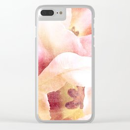 spring tulips {minus type Clear iPhone Case
