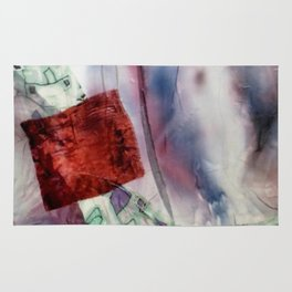 Carré rouge Rug