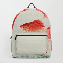 Ohara Koson - Two veil goldfish Backpack