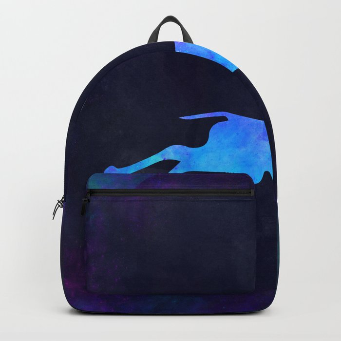 GAZELLE IN SPACE // Animal Graphic Art // Watercolor Canvas Painting // Modern Minimal Cute Backpack