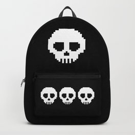 Pixel Skulls - Black Backpack