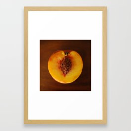 Peach Heart Framed Art Print