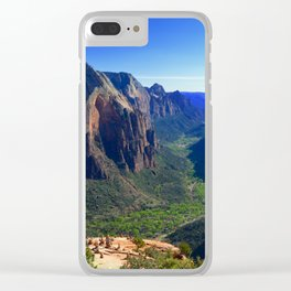 Top of Angel's Landing-Utah Clear iPhone Case