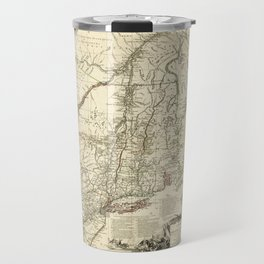 American Revolutionary War Map (1782) Travel Mug