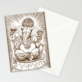 Ganesh: Brown Stationery Cards