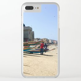Senegalese fishing boats Clear iPhone Case