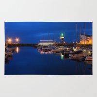 marina Area & Throw Rugs featuring Ardrossan Marina by Paul & Fe Photography