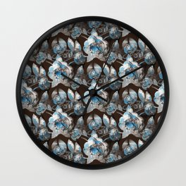 Rustic Iron Roses Wall Clock